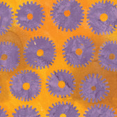 Kaffe Fassett BKKF001 Artisan Batik Saw Circles Lilac Cotton Fabric By The Yard