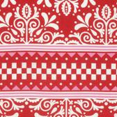 Jane Sassaman Scandia PWJS092 Cardigan Red Cotton Fabric By The Yard