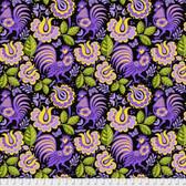 Jane Sassaman Folk Tales PWJS103 Kerchief Purple Cotton Fabric By The Yard