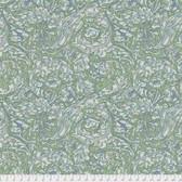 Morris & Co. Kelmscott PWWM003 Bachelors Button Green Cotton Fabric By Yd