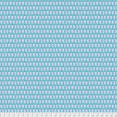 Corinne Haig PWCH002 Artichoke Garden Ikat Teal Cotton Fabric By Yd