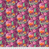 Corinne Haig PWCH004 Artichoke Garden Thistle Flowers Cabernet Fabric By Yd