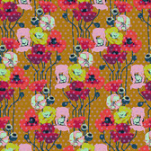 Anna Maria Horner Floral Retrospective PWAH050 Raindrop Poppies Amber Fabric By Yd