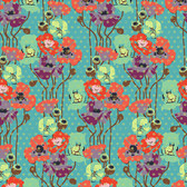 Anna Maria Horner Field Study PWAH050 Raindrop Poppies Candy Fabric By Yd
