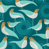 Joel Dewberry PWJD135 Modernist Perch Peacock Cotton Quilting Fabric By Yard