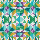 Joel Dewberry PWJD139 Modernist Prismatic Emerald Cotton Quilting Fabric By Yard