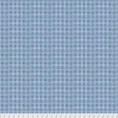 Natalie Malan Crisp Petals PWNM005 Cativating Check Blue Jay Cotton Fabric By Yd