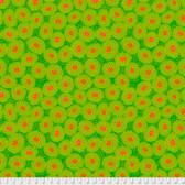 Odile Bailloeul PWOB003 Broderie Boheme Grandmas Curtains Lime Fabric By Yd