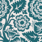 Joel Dewberry VOJD012 Modernist Blockprint Blossom Peacock VOILE Fabric By Yard
