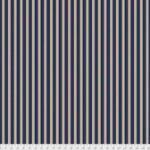 Morris & Co. Kelmscott PWWM007 Gilt Stripe Navy Cotton Fabric By Yd