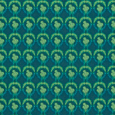 Nel Whatmore PWNW085 Ghost Verbena Dark Green Cotton Fabric By Yard