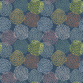 Shannon Newlin Floral Waterfall PWSN005 Dots Turquoise Cotton Fabric By Yd