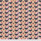 Shannon Newlin Garden Dreams PWSN010 Birds Black Cotton Fabric By Yd