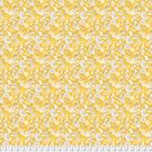 Margot Elena Stories & Songbirds PWME007 C'est Si Bon Canary Fabric By Yd
