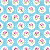 Tanya Whelan PWTW149 Charlotte Dotted Rose Blue Cotton Quilting Fabric By Yd