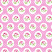Tanya Whelan PWTW149 Charlotte Dotted Rose Pink Cotton Quilting Fabric By Yd