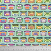 Tula Pink PWTP094 Tabby Road Cat Snacks Blue Bird Cotton Fabric By Yard