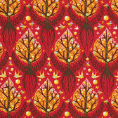 Tula Pink PWTP025 Birds & Bees Tree Of Life Cinnamon Cotton Fabric By The Yard