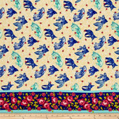 Tokyo Milk Neptune & The Mermaid PWTM003 Age Of Aquarius Blue Fabric By Yd