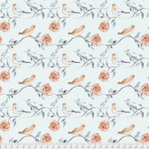 Shell Rummel Bloom Beautiful PWSR017 Birdsong Turquoise Cotton Fabric By Yd