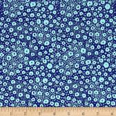Tokyo Milk Neptune & The Mermaid PWTM009 Floral Reef Navy Fabric By Yd