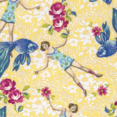 Tokyo Milk Neptune & The Mermaid What Would Poseidon Say Yellow Fabric By Yd
