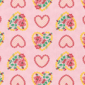 Verna Mosquera Love & Friendship PWVM171 Roseheart Blush Fabric By Yd