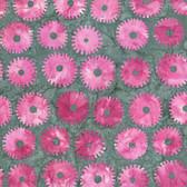 Kaffe Fassett BKKF001 Artisan Batik Saw Circles Pink Cotton Fabric By The Yard