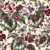 Snow Leopard English Garden PWSL054 Begonia Harvest Cotton Fabric By Yd