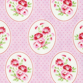 Tanya Whelan Rambling Rose PWTW135 Granny's Wallpaper Pink Cotton Fabric By Yd