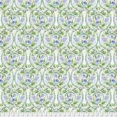 Natalie Malan Crisp Petals PWNM002 Peacock Delphinium Fabric By Yd
