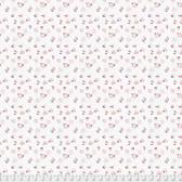 Natalie Malan Crisp Petals PWNM006 Alyssum Peony Cotton Fabric By Yd