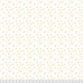 Natalie Malan Crisp Petals PWNM006 Alyssum Custard Cotton Fabric By Yd