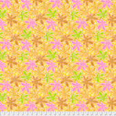 Philip Jacobs PWPJ093 Lacy Leaf Yellow Cotton Quilting Fabric By Yard