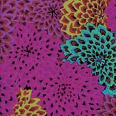 Kaffe Fassett GP54 Dahlia Blooms Fig Cotton Fabric By The Yard