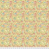 Laura Heine The Dress PWLH003 Fern Yellow Cotton Fabric By Yd