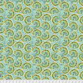 Tina Givens PWTG190 Piecemeal Raisin Fest Aqua Cotton Fabric By Yd