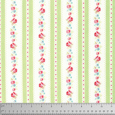 Tanya Whelan PWTW107 Lola Garden Ticking Green Cotton Fabric By Yd