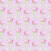 Tanya Whelan PWTW148 Charlotte Rose Trellis Pink Cotton Quilting Fabric By Yd