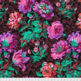 Philip Jacobs PWPJ090 Baroque Floral Black Cotton Quilting Fabric By Yard
