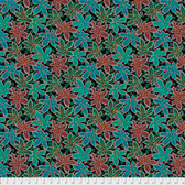 Philip Jacobs PWPJ093 Lacy Leaf Green Cotton Quilting Fabric By Yard