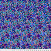 Philip Jacobs PWPJ093 Lacy Leaf Blue Cotton Quilting Fabric By Yard