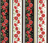 Henry Glass 11997 Poppy Perfection Lg Poppy Stripe Quilting Fabric By Yard