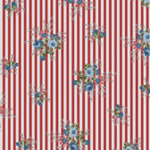 Henry Glass 8849 Flowers Of Provence Striped Calico Cotton Quilting Fabric By Yd