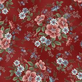 Henry Glass 8848 Flowers Of Provence Red Master Floral Quilting Fabric By Yd
