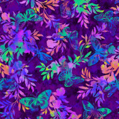 Studio E 39111-55 Aflutter & Fern Purple Cotton Quilting Fabric By Yard