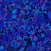 Studio E 3912-77 Aflutter Wildflower & Fern Indig Cotton Quilting Fabric By Yard