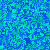 Studio E 3912-17 Aflutter Wildflower & Fern Cerulean Quilting Fabric By Yard