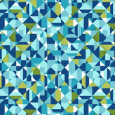 Studio E 3945-71 Sunshine Kisses Geo Blue Cotton Quilting Fabric By Yard