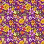 Blank Quilting 8680-55 Garden Glory Garden Allover Purple Cotton Fabric By Yard